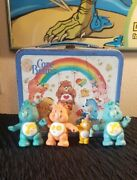 Care Bears Vintage Lunch Box And Figurine Toys Lot ❤