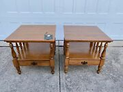 Ethan Allen American Traditional Solid Wood End Tables 10-8545