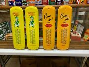 Kist Soda, And Ramon's Pills Advertising Thermometers, Lot Of 4 Mint Condition