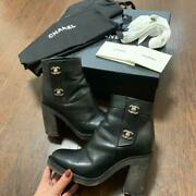 Turnlock Boots 35 Black With Box Size Women 5 Us Shoes