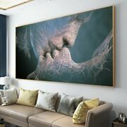 Love Kiss Canvas Painting Poster And Prints Modern Wall Art Pictures Decor Art
