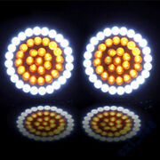New 2 Led 1157 Front And Rear Turn Signal Lights Inserts +cover Lens Fit Us