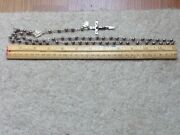 Antique Rosary, Chain Solid Sterling Silver, 59 Beads.
