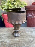 Ancient Old Iron Terracotta Hand Crafted Indian Hooka Chillam Pot Lid