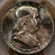 1956 Fs-401 Bugs Franklin Half Pcgs Ms65+ Cac Great Colordavidkahnrarecoins