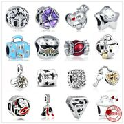 Genuine 925 Sterling Silver Lipstick Bag Star Heart Charms Without Pandora Pouch