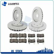 Front Rear Discs Brake Rotor And Ceramic Pads For Chevrolet Camaro Drill Slot