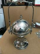 Antique Victorian Simpson Hall Silverplate Figural Roll Top Butter Dish