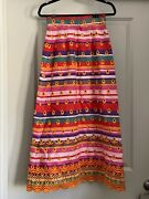 Vintage 70s Morton Myle For Malcom Charles Quilted Patchwork Maxi Skirt Size 4/6