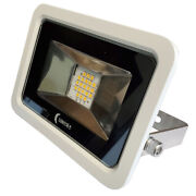 Lunasea 10w Slimline Led Floodlight 120vac Only Cool White 1200 Lumens 3and039...