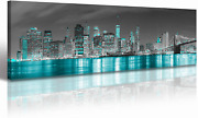 Wall Art Bedroom Canvas Prints New York Skyline City Pictures Home Decorations