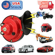 300db Train Horn 12v Super Loud Electric Air For Motorcycle Car Truck Boat