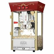 Popcorn Red Matinee Movie Theater Style 8 Oz. Ounce Antique Popcorn Machine