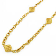 Necklace Gold Metal Long Vintage From Japan