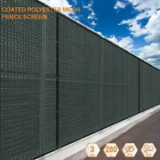 Customize 7 Ft Fs Green Fence Privacy Commercial Screen Coated Polyester 280 Gsm