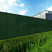Green 8ft 180gsm Fence Windscreen Privacy Screen Shade Cover Fabric Mesh Garden