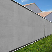 Light Gray 3ft Fence Windscreen Privacy Screen Shade Cover Fabric Mesh Garden