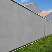 Light Gray 2ft Fence Windscreen Privacy Screen Shade Cover Fabric Mesh Garden