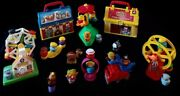 Huge Lot 2008 Fisher Price Little People On The Go Fire Station Circus Lunch Box