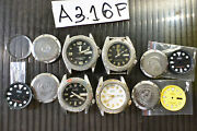 4pc Seiko Diver Automatic 7s26-0010 0170 Skx W/ Dial Glass Parts Watch Run Asis