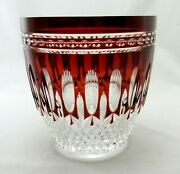 Estate Waterford Crystal Ruby Cut To Clear Clarendon Wine Champagne Ice Bucket