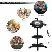 1350w Electric Bbq Grill With 4 Temperature Setting Outdoor Patio Garden Camping