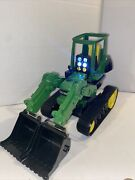 John Deere Dual Bucket Tractor Lights Sound F0515yl00 Toy Collection Harvesting