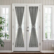 Plaid Country Farmhouse Door Curtain With Tieback - Assorted Colors And Sizes