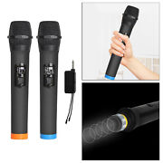 Wireless 2x Microphone Without Bluetooth Vhf Wireless Dual Handheld With