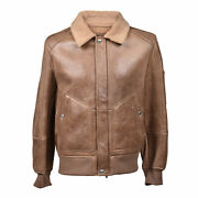 Brunello Cucinelli Menand039s 100 Leather Fur Lined Bomber Jacket Sizes S-m