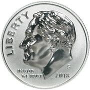 2018 S Roosevelt Dime Gem Deep Cameo 90 Silver Reverse Proof Us Coin