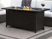 Large Fire Pit Lp Propane Burner Lid Cover Outdoor Backyard Patio Fire Glass New