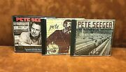 Pete Seeger 3 Cds American Industrial Ballads We Shall Overcome And Friends