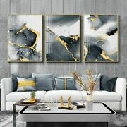 Modern Canvas Poster Golden Black Wall Art Painting Posters And Prints Wall Art