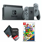 Nintendo Switch Gaming Console Bundle With Super Mario 3d World + Bowserand039s Fury