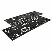 Rubber Stair Tread Covers With Spring Icons - Set Of 2