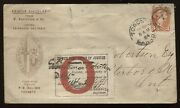 3 Cent Small Queen 1884 Cacheted Toronto Cover To Peterboro Court Exhibit Label
