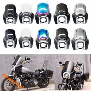 Front Fairing Outer Club Style W/ Trim Bezel Windshied For Harley Fxbb Fxst 18+