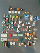 Collection Of 94 Assorted Iwako Japanese And Other Toy Erasers Sports Food Holiday