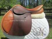 17.5 County Stabilizer Close Contact Jumping Saddle-wool- Mn Tree-2011 Model