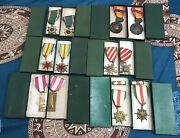 South Vietnamese 12 Pcs Original Medals With Boxes