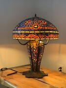 One Of A Kind Mosaic Peacock Lighted Base Table Lamp /heavy