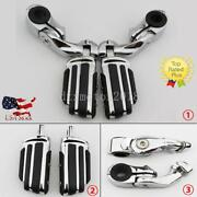 Highway Foot Pegs Mount Clamps For Yamaha V-star Xvs650 950 1100 1300 Custom Us