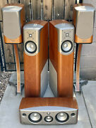 Vintage Infinity Kappa Home Entertainment Audiophile Set Of Speakers W/stands