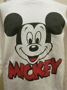 Vtg Mickey Mouse Baggy Sweatshirt 1980's Disney Character Fashions Hipster Wear
