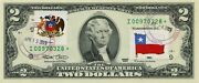 2 Dollars 2013 Star Stamp Cancel Postal Flag From Chile Value 500