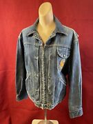 Vintage 50and039s - 60and039s Wrangler Denim Jacket Size 42 Blue Bell Scovill Zip Gemini