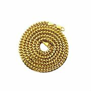 14k Yellow Gold 4mm Solid Miami Cuban Necklace With Lobster Lock 20 - 30