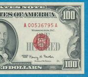 100. 1966 Red Seal Legal Tender United States Note Gem New