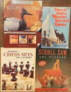 4 Word Working Books Scroll Saw Art Puzzles Chess Sets Toys And Games Wood Carving